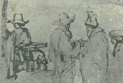 Rembrandt tekening: