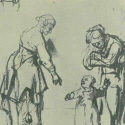 Rembrandt tekening, Carel Fabritius,