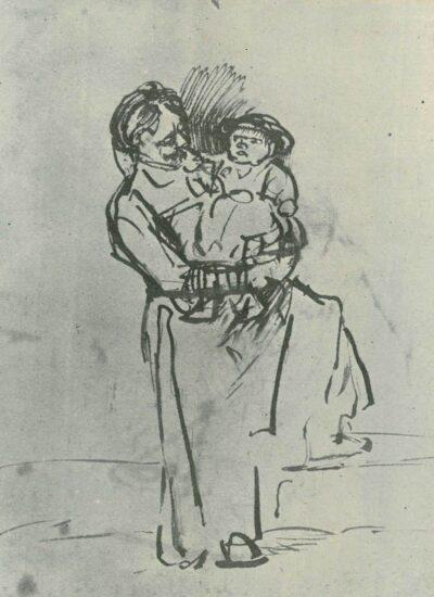 Tekening Rembrandt,