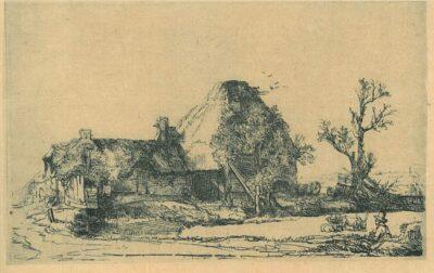 Rembrandt, Bartsch B. 219, het landschap met de tekenaar
