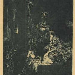 Rembrandt, Bartsch B. 50, The presentation in the Temple in the dark manner