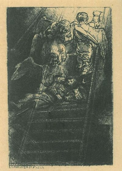 Rembrandt, Bartsch B. 36 c, De Ladder Jacobs
