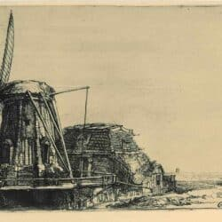 De molen, Rembrandt, Ets, Bartsch, B. 233