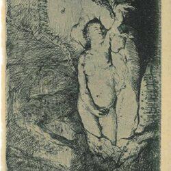 Jupiter en Antiope: kleine plaat, Jupiter en Antiope, Rembrandt, Bartsch, B. 204
