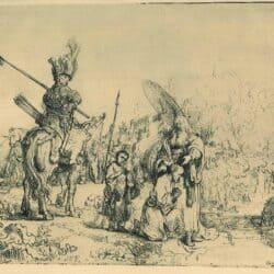 De doop van de kamerling, Rembrandt, Bartsch, B. 109