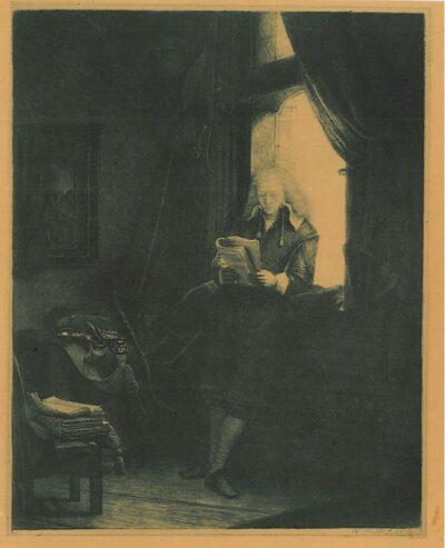 Jan Six(1618-1700), Rembrandt, Bartsch, B. 285