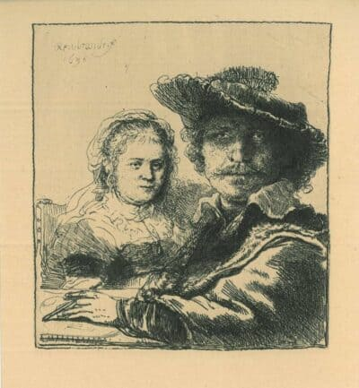 Zelfportret met Saskia, Rembrandt, Bartsch, B. 19