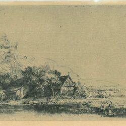 Landschap met drinkende koe, Rembrandt, Bartsch, B. 237