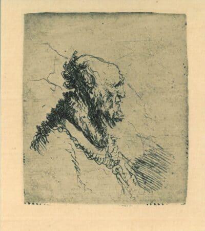 Oude man met korte baard, Rembrandt, Bartsch, B. 306
