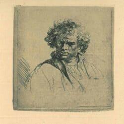 Manshoofd met vertrokken mond, Rembrandt, Bartsch, B. 305