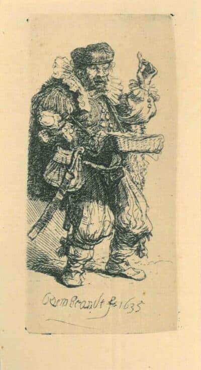 De kwakzalver, Rembrandt, Bartsch, B. 129