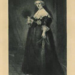Leopold Flameng naar Rembrandt, Oopjen Coppit (1611-1689)