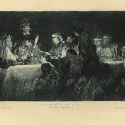 Charles-Albert Waltner (1846-1925) ets, naar schilderij Rembrandt,