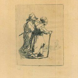 Rembrandt, Bartsch B. 144, Twee landlopers, een man en een vrouw