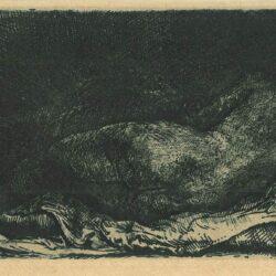 Liggende negerin, Rembrandt, Bartsch, B. 206