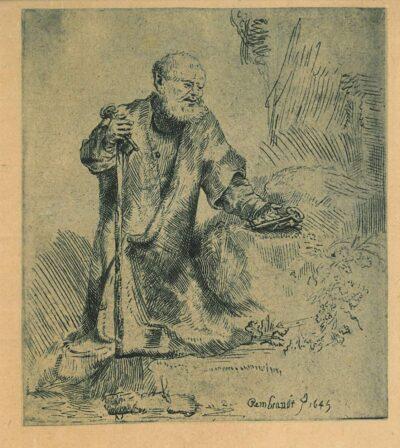 Het berouw van Petrus, Rembrandt, Bartsch, B. 96