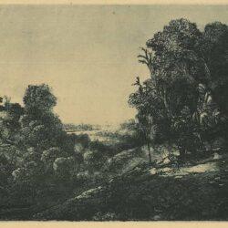De vlucht naar Egypte: op een plaat van Seghers, Rembrandt, Bartsch, B.