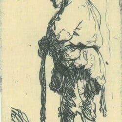 Rembrandt, etching, Bartsch B. 163,