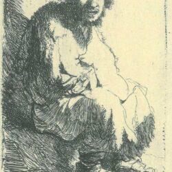 Rembrandt, etching, Bartsch B. 174,