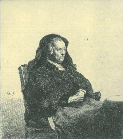 Rembrandt, etching, Bartsch B. 343,