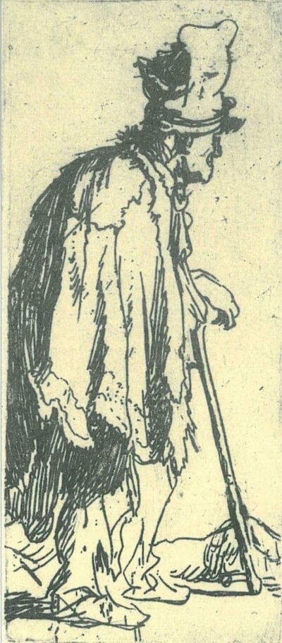 Rembrandt, etching, Bartsch B. 166,