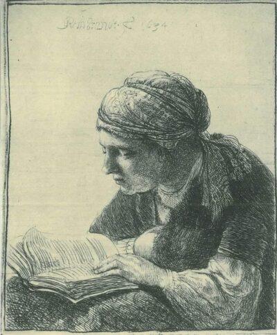Rembrandt, etching, Bartsch B. 345,