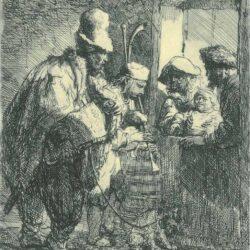 Rembrandt, etching, Bartsch B. 119,