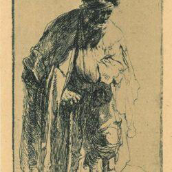 Rembrandt Etching, Bartsch B. 179, Beggar with a wooden leg