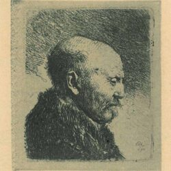 Rembrandt, etching, Bartsch B. 292, Bald-headed man in right profile [The artist's father?]