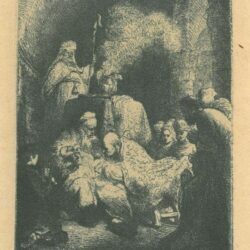 Rembrandt, etching, Bartsch b. 48, The circumcision: small plate