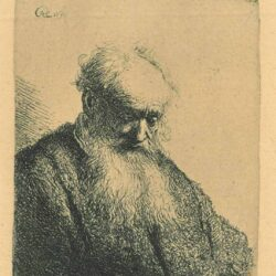 Rembrandt, etching, Bartsch B. 309, Old man with a flowing beard