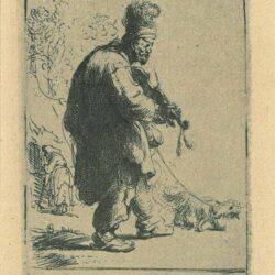 Rembrandt Etching, bartch b. 138, The blind fiddler
