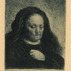 Rembrandt, etching, Bartsch B. 349,