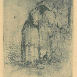 Rembrandt Etching, Bartch B. 183, Beggar man and woman