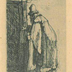 Rembrandt, etching, Bartsch B. 153, The blindness of Tobit: a sketch