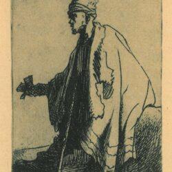 """Rembrandt, Etching, Bartsch B. 171, The leper [""""Lazarus clep""""]"""