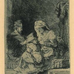 Rembrandt, etching, Bartsch b. 62, The holy family