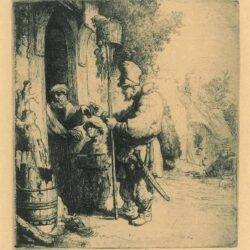 Rembrandt, etching, Bartsch b. 121, The rat-poison peddler [The rat catcher]
