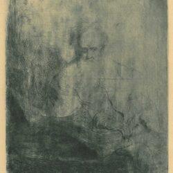 Rembrandt, Bartsch B. 149, De apostel Paulus in gedachten verzonken