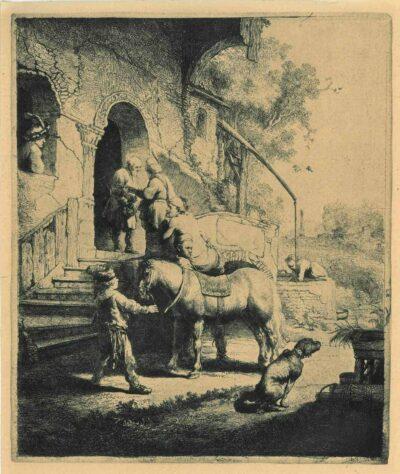 Rembrandt, etching, Bartsch b. 90,