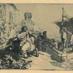 Rembrandt Etching, bartch b. 106,