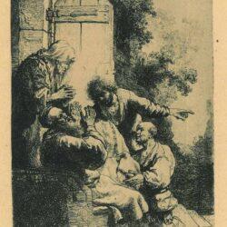 Rembrandt, etching, Bartsch B. 38,