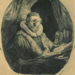 Rembrandt, Etching, Bartsch, B. 279, Jan Uytenbogaert, preacher of the Remonstrants [1557-1644]
