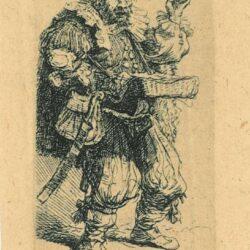 De kwakzalver, ets Rembrandt, Bartsch, B. 129