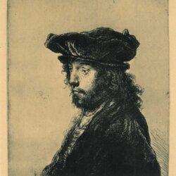 De vierde oosterse kop, ets Rembrandt, Bartsch, B. 289