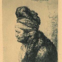 Rembrandt, Etching, Bartsch, B. 287, The second oriental head