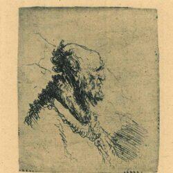 Oude man met korte baard, Rembrandt, ets, Bartsch, B. 306