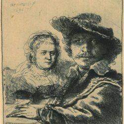 Zelfportret met Saskia, Rembrandt ets, Bartsch, B. 19