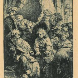 Rembrandt Etching, Bartch B. 37, Joseph telling his dreams