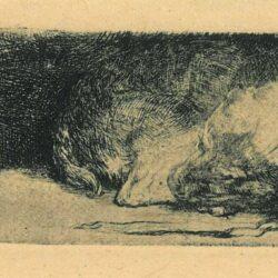 Rembrandt ets, Bartsch, B. 158,
